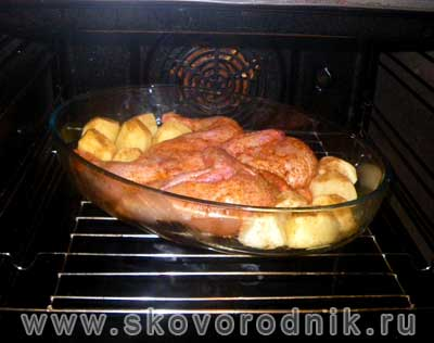 рецепт цыпленка табака в духовке с фото пошагово