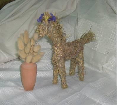 Лошадь из листьев поделка 40